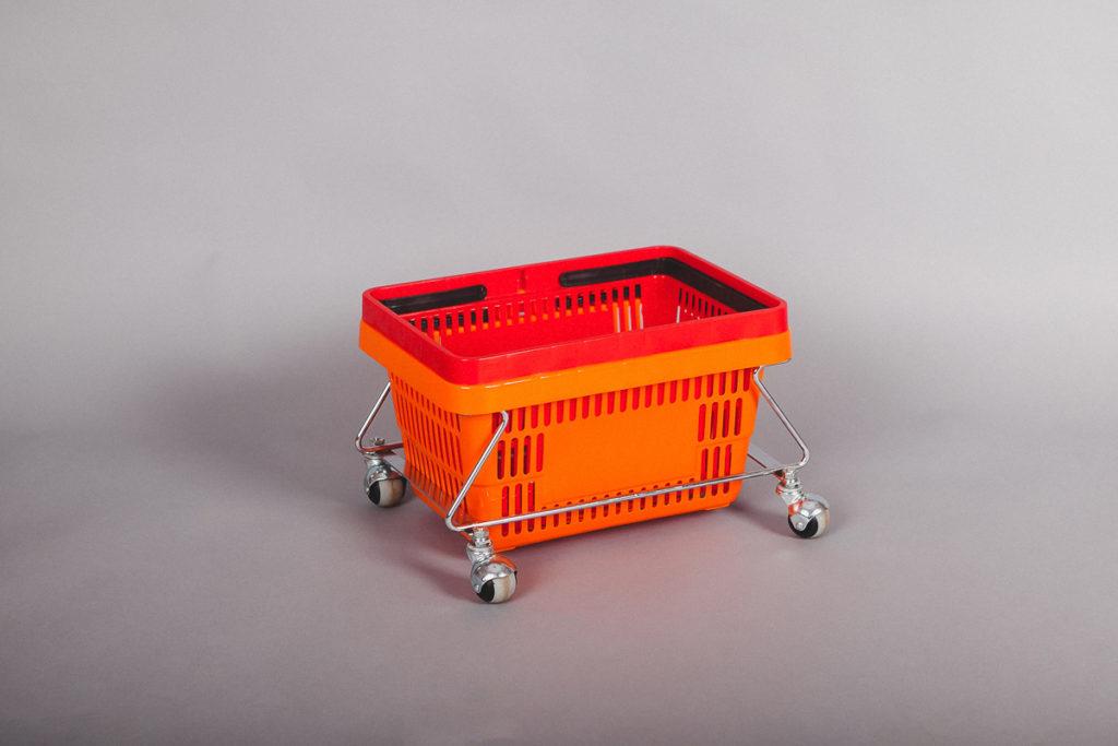 Корзина покупательская пластиковая 27 литров